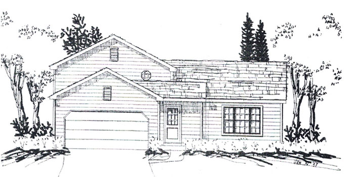 New Construction Elkhorn Wisconsin Homes in The Pines. The Hampton model home now under construction