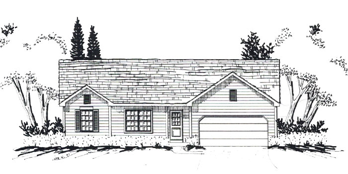 New Construction Elkhorn Wisconsin Homes in The Pines. The Lakewood model home now under construction