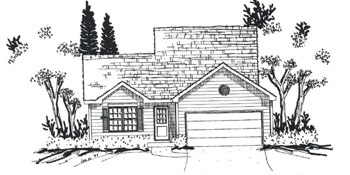 New Construction Elkhorn Wisconsin Homes in The Pines. The Windsor model home now under construction
