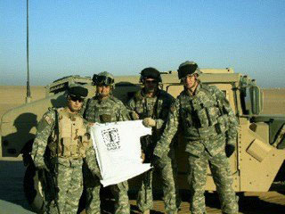 Tracy tee in Iraq